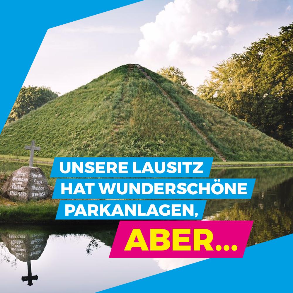 Unsere Lausitz hat wunderschöne Parks, aber…
